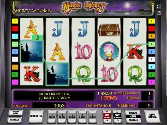 Бонунусная игра в слоте Magic Money